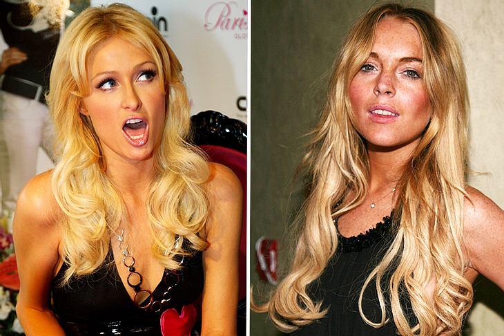 """Die Zicken zicken wieder: Paris Hilton und Lindsay Lohan bekriegen sich neuerdings bei """"Facebook""""..."""