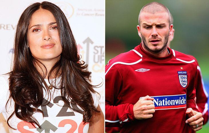 Im Februar hatte Salma Hayek eine Trainingsstunde bei David Beckham ersteigert. Aber die konnte aus Zeitmangel bis heute nicht stattfinden...