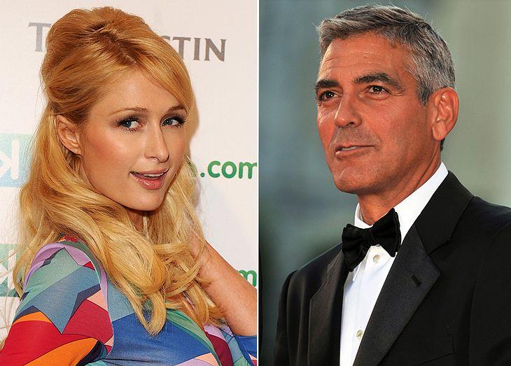 Paris Hilton scheint Gefallen an George Clooney gefunden zu haben und flirtet angeblich, was das Zeug hält!