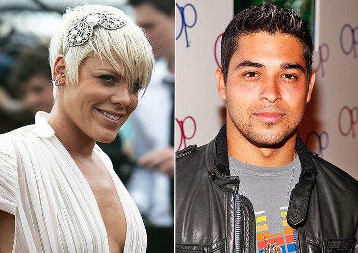 Nur Saufkumpanen oder läuft da mehr? Pink und Lindsay Lohans Ex Wilmer Valderrama scheinen sich kürzlich mehr als gut verstanden zu haben...