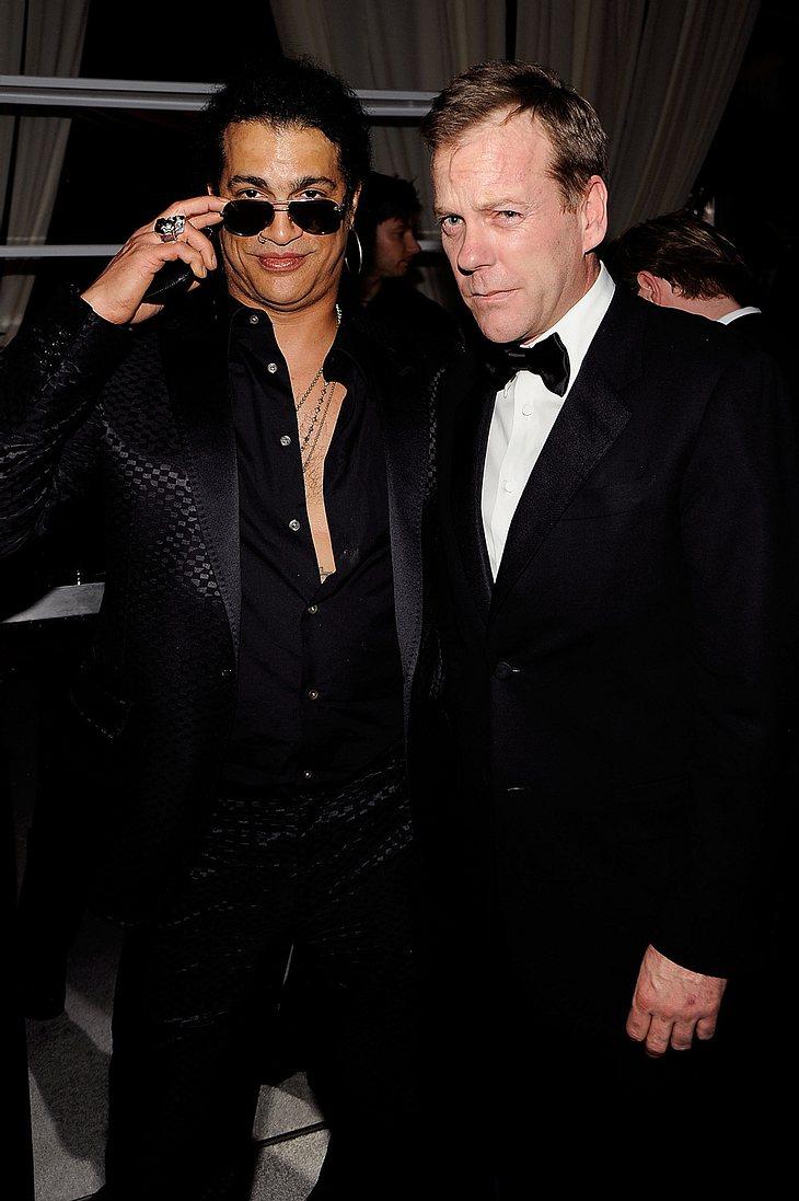 Serien-Star Kiefer Sutherland und Slash sind auf diesem Foto noch in trauter Zweisamkeit zu sehen. Später am Abend soll das leider ganz und gar nicht mehr der Fall gewesen sein...