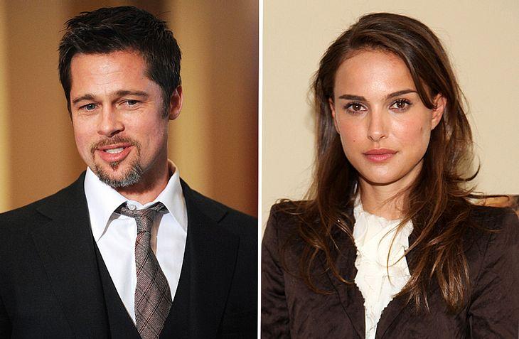 Zwischen Brad Pitt und Natalie Portman fliegen die Funken - allerdings nur auf der Leinwand. Im Laufe des Jahres werden die beiden für ein gemeinsames Projekt als Liebespaar vor der Kamera stehen!