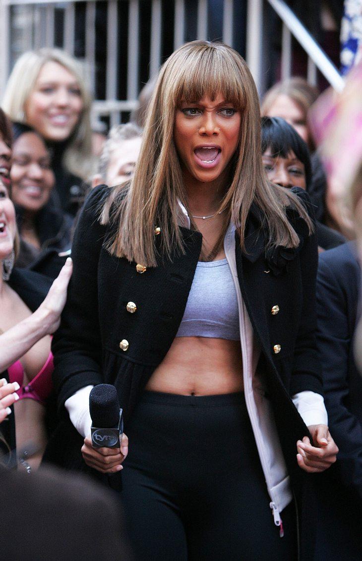 Tyra Banks und ihre Hau-drauf-Models