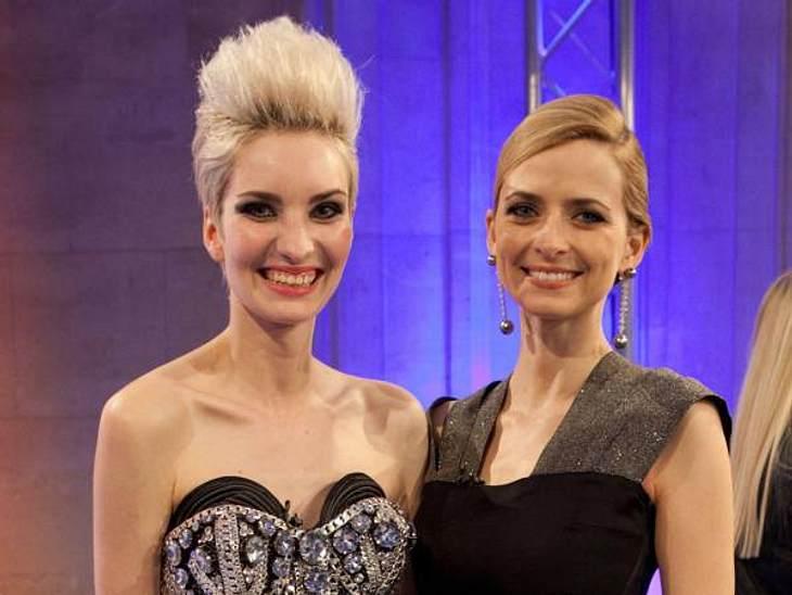 """""""Das perfekte Model"""": Gewinnerin Anika Scheibe mit ihrer Mentorin Eva Padberg"""