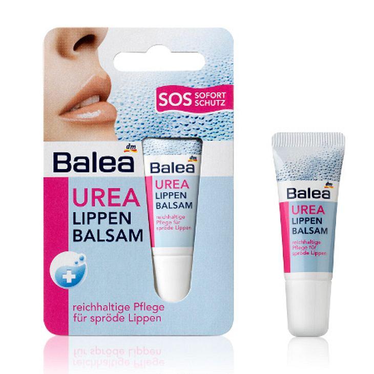 Gegen raue Winterlippen hilft dieser Lippen Balsam mit Urea von Balea sofort. Um 0,95 Euro.