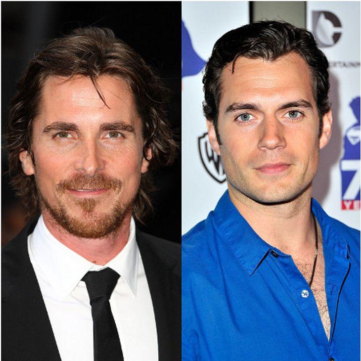 Stehen vielleicht bald gemeinsam vor der Kamera: Christian Bale und Herny Cavill