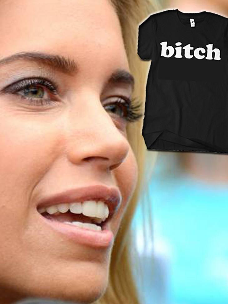 """Sylvie van der Vaart trägt kurz nach Sabias Enthüllungs-Interview ein Shirt mit der Aufschrift """"Bitch"""""""
