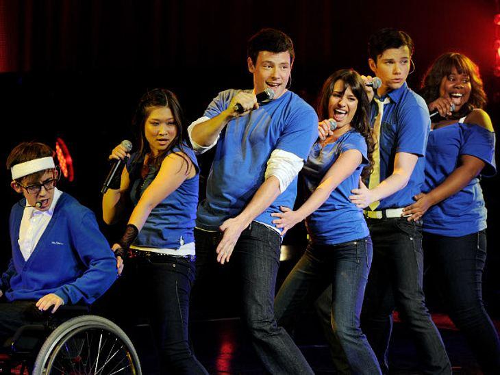 """Zu seinen Talenten gehörten das Singen und Tanzen. In der Musical-Serie """"Glee"""" war er also genau richtig aufgehoben."""