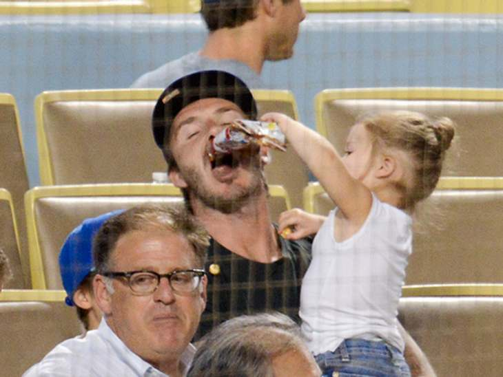 David Beckham verbringt viel Zeit mit seinem Nachwuchs. Was er mit seiner kleinen Harper unternommen hat, seht Ihr hier