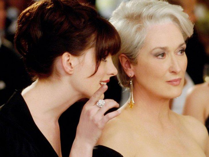 """Filmstars - Wer eigentlich ihre Rollen spielen sollte: """"Der Teufel trägt Prada"""",Meryl Streep wurde für ihre Rolle der Miranda Priestly in """"Der Teufel trägt Prada"""" für einen Oscar nominiert und erhielt einen Golden Globe."""