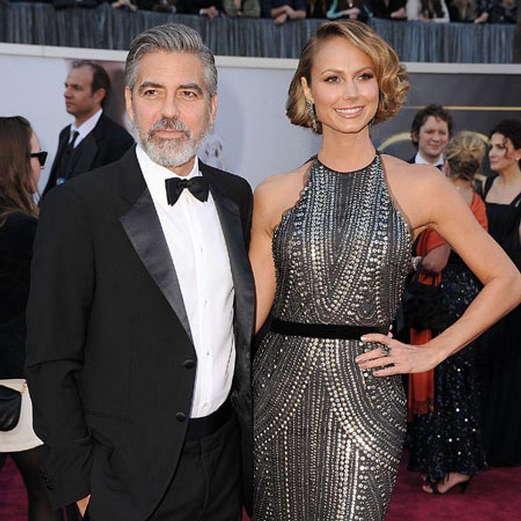 War da die Welt noch in Ordnung? George Clooney und Stacy Keibler bei den Oscars 2013.