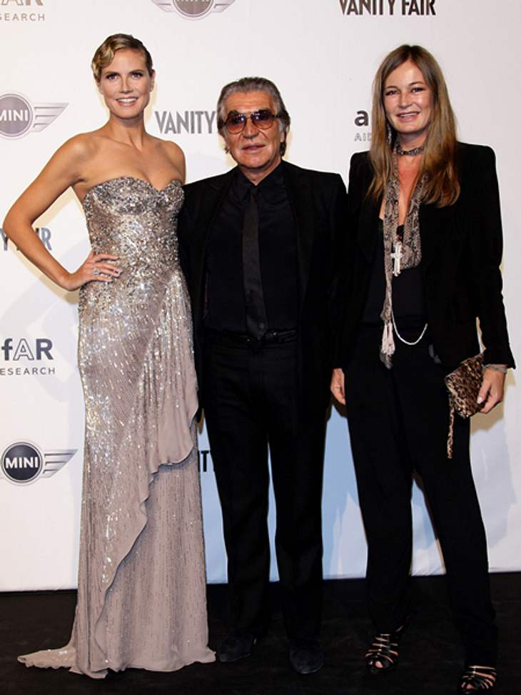 Heidi Klum mit Roberto und Eva Cavalli