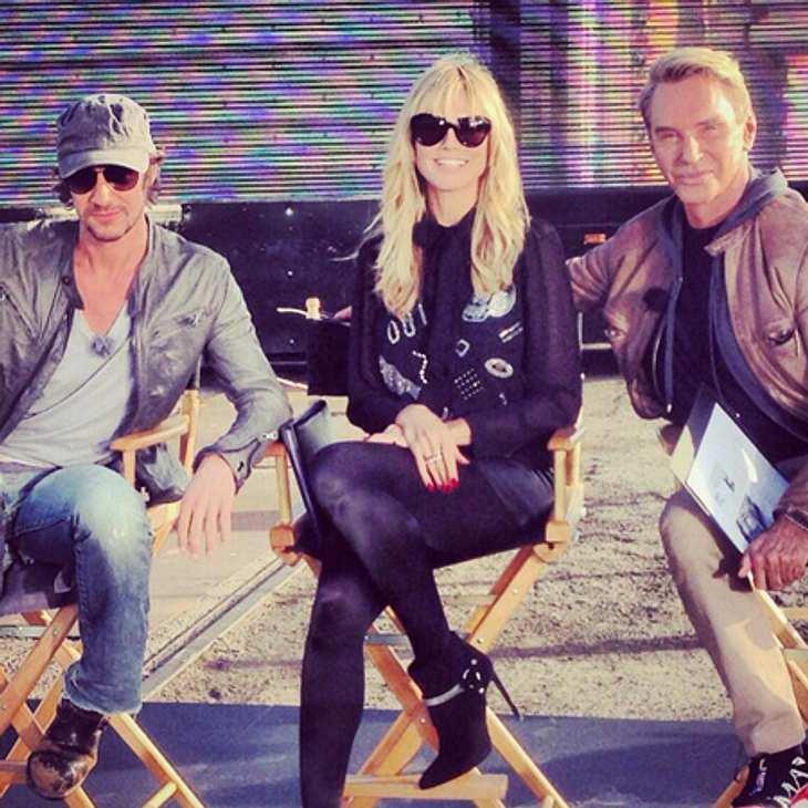 "Heidi Klum, Wolfgang Joop und Thomas Hayo am Set von ""Germany's Next Topmodel"""