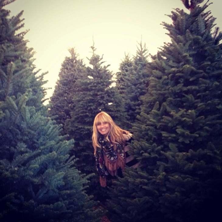 Heidi Klum: Weihnachtsbäume für alle!