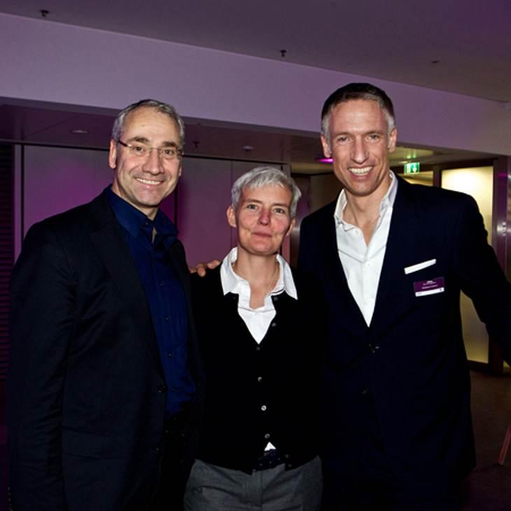 Dr. Joachim Lubig (Geschäftsführer Coty Beauty Deutschland), Petra Gnauert (CEO Zenithmedia) und Andreas Fuhlisch (Geschäftsleiter Bauer Advertising KG)