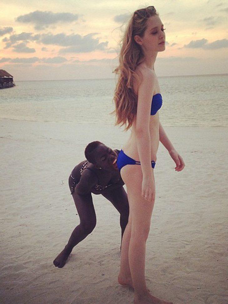 Ivana und Aminata genießen die Malediven
