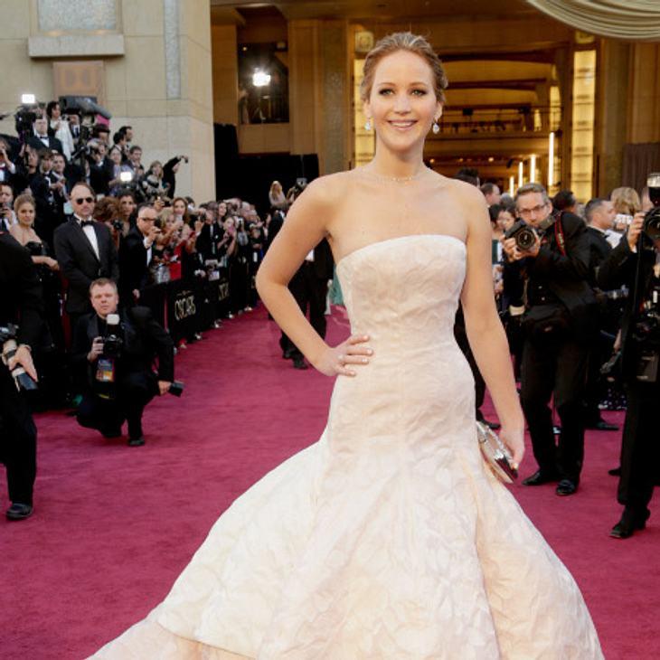 Jennifer Lawrence glänzte in einer weißen Robe von Dior