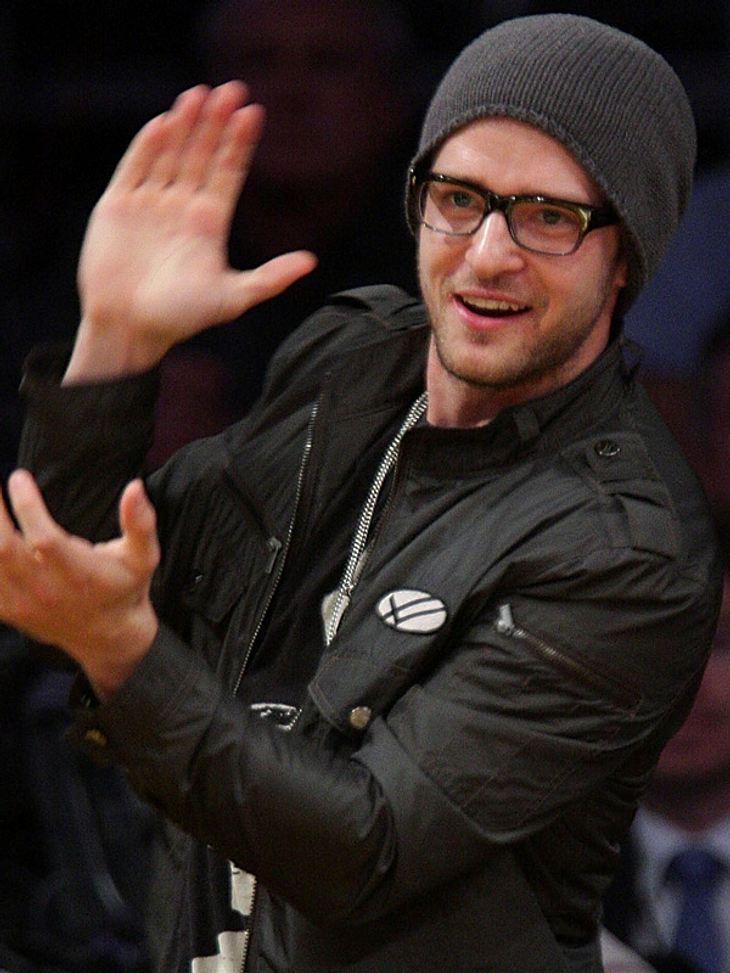 Mit dabei in Los Angeles: Justin Timberlake.