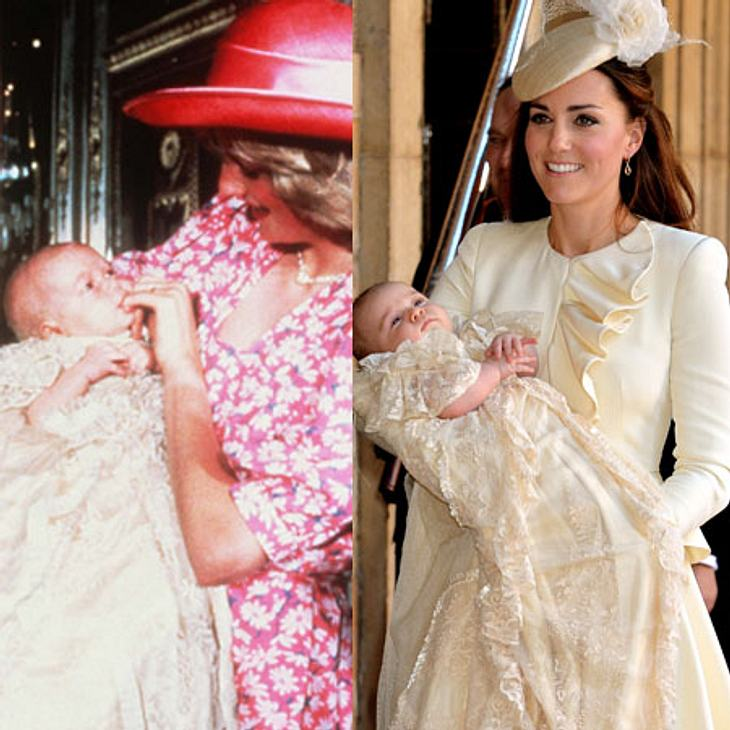 Lady Di mit Prinz William vs. Kate mit Prinz George