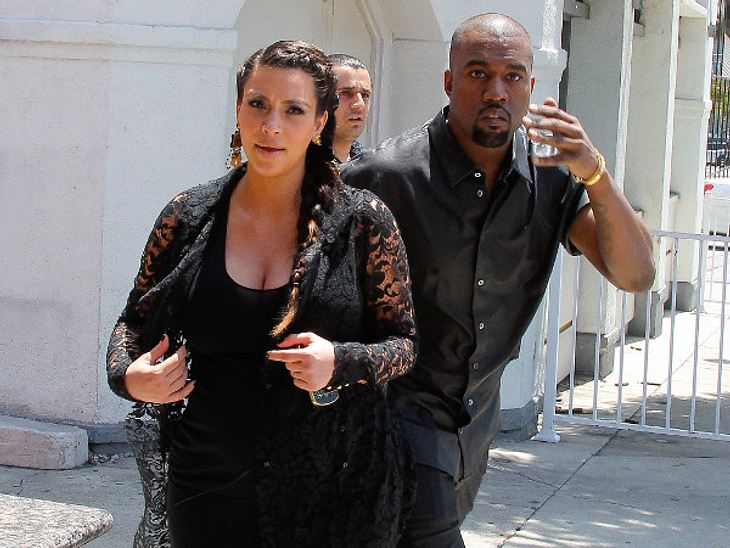 Stolze Eltern: Kim Kardashian und Kanye West