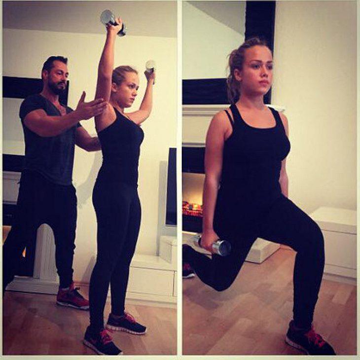 Kim Gloss trainiert für ihren Traumbody
