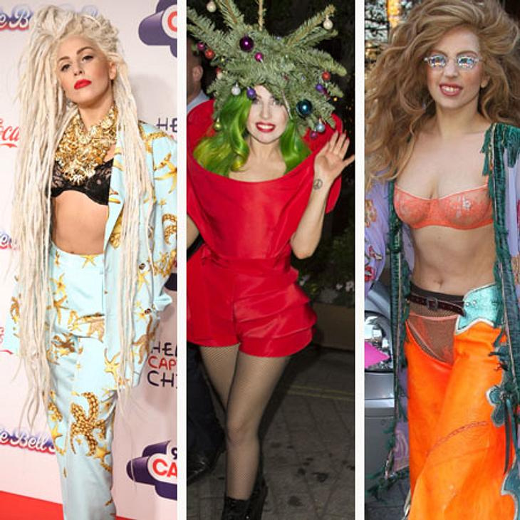 Lady Gaga: 1 Tag - 3 Outfits!