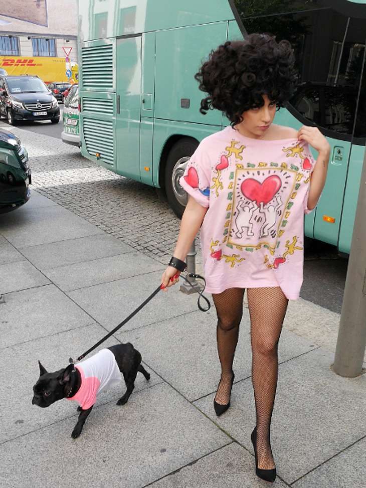 Lady Gaga im Partnerlook mit Hund Asia