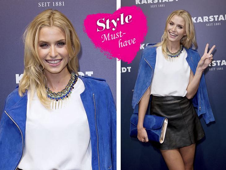 Lederröcke: Lena Gercke trägt sie gerne. Wie Ihr sie richtig kombiniert, lest Ihr hier: