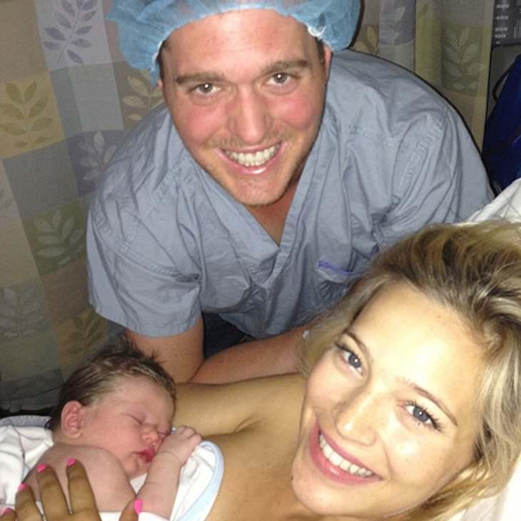 Papa Michael, Mama Luisana und Söhnchen Noah