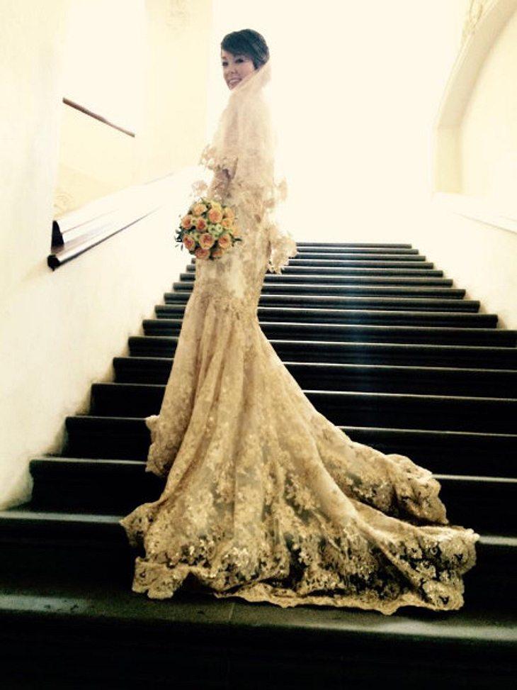 Nela Lee in ihrem Brautkleid