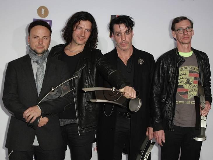 ,Die Jungs von Rammstein gewannen in der Rubrik Rock/Alternative.