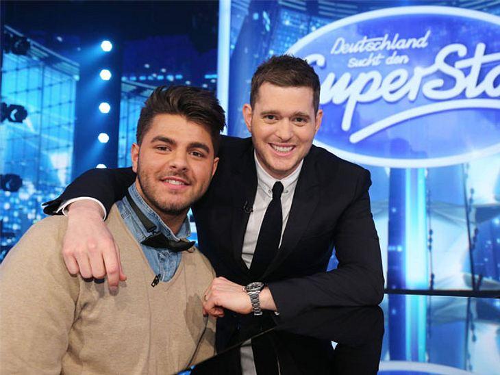 Ricardo Bielecki wurde von seinem Idol Michael Bublé während der Proben zur fünften DSDS-Mottoshow überrascht.