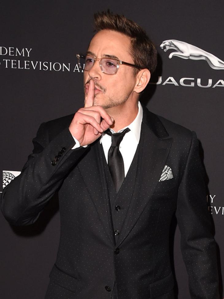 Downey ringt um Fassung, aber das Thema setzt ihm wohl schwer zu.