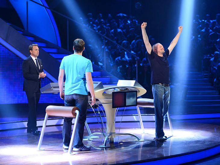 """Stefan Raab gewinnt die 40. Show von """"Schlag den Raab""""."""