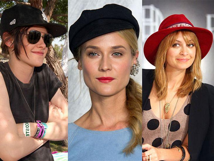 Gut behütet: Die Stars tragen Hut