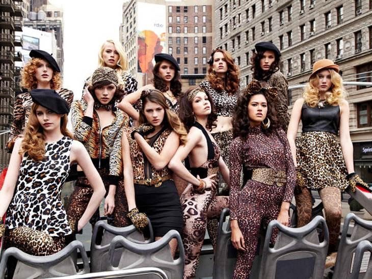 So sexy posen die Mädchen in New York