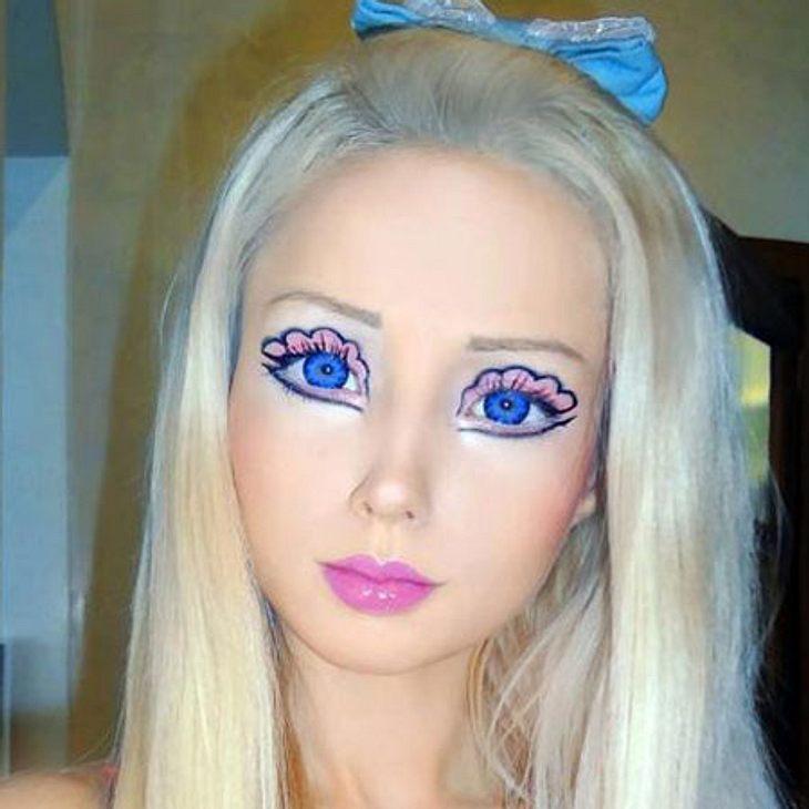 Valeria hat auch bei dem Make-up ihren eigenen Geschmack