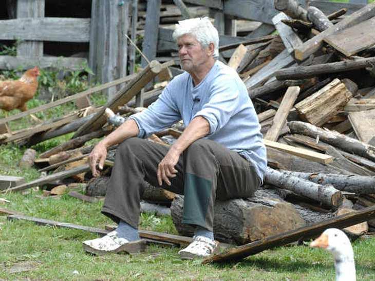 """""""Die Alm - Promischweiß und Edelweiß"""": Die HighlightsWerner Lorant hat allerdings bei der Arbeit im Wald nicht geholfen, was die anderen Almbewohner auch ziemlich störte. Er saß unten an der Hütte und beobachtete die anderen beim"""