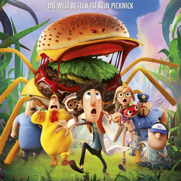 Wolkig mit Aussicht auf Fleischbällchen 2: Bananen mit Gesichtern und Burger, die laufen können?