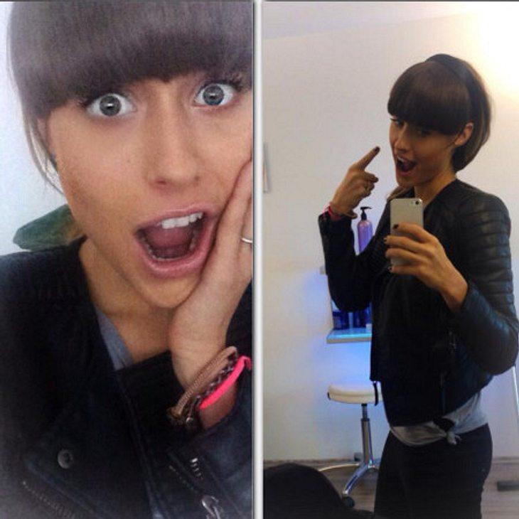 Alena Gerber mit neuer Frisur