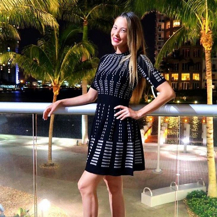Alessandra Meyer-Wölden gratuliert ihrem Schatz