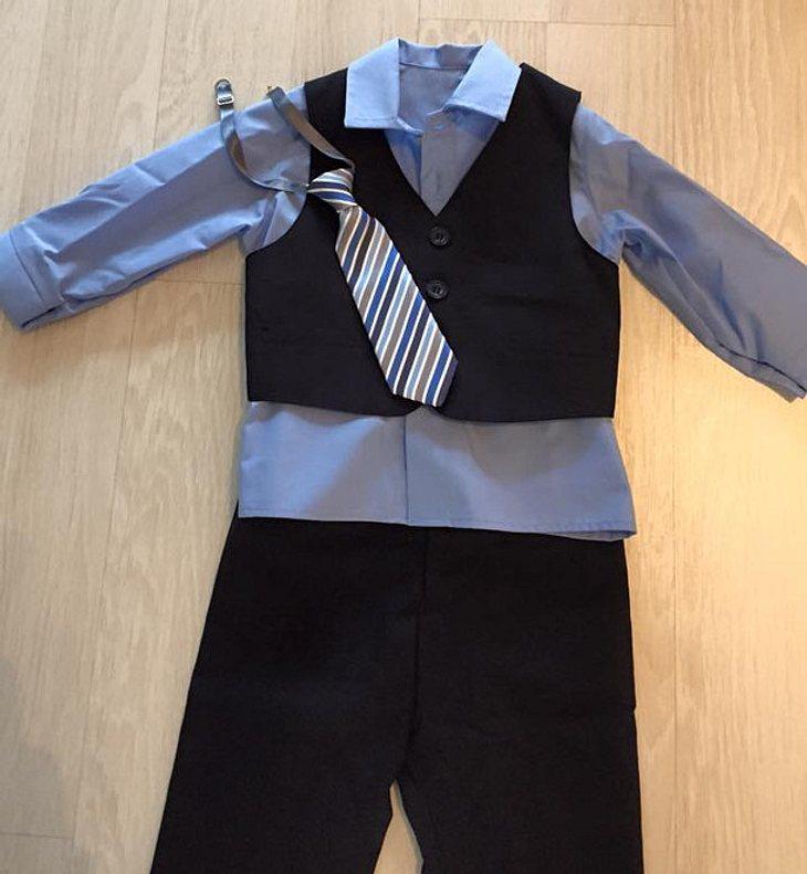 Alessios Anzug für Heiligabend