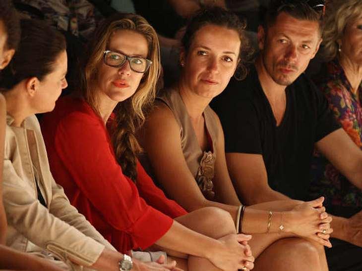 """Fashion Week BerlinMichi Beck, Ulrike Beck, Alexandra Neldel auf der  Berlin Fashion Week bei der """"Schuhmacher"""" Show."""
