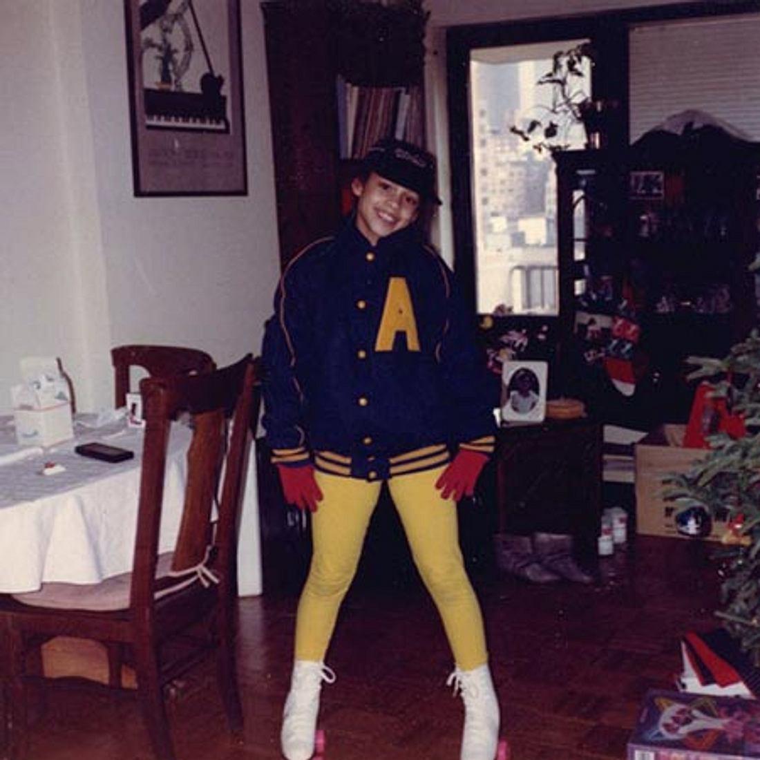 Stolz wie Bolle! Die 11-jährige Alicia Keys bekam 1992 Rollschuhe zu Weihnachten