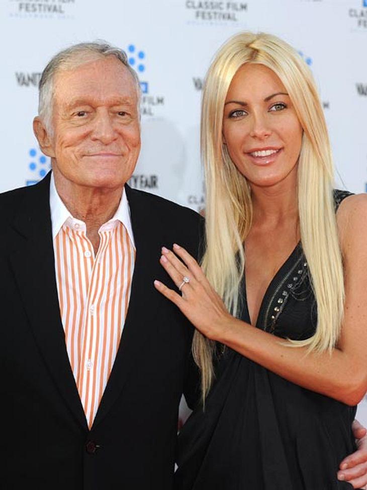 Prominente Paare mit großem AltersunterschiedCrystal Harris (25) verließ Hugh Hefner (85) kurz vor deren Hochzeit. Nach der Trennung ließ er sich von seiner Ex-Freundin Bridget Marquardt trösten. Die schönsten Playboy-Cover