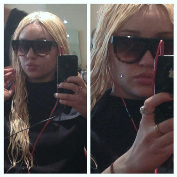 Selbst ein Friseur-Besuch artet im Leben von Amanda Bynes aus.
