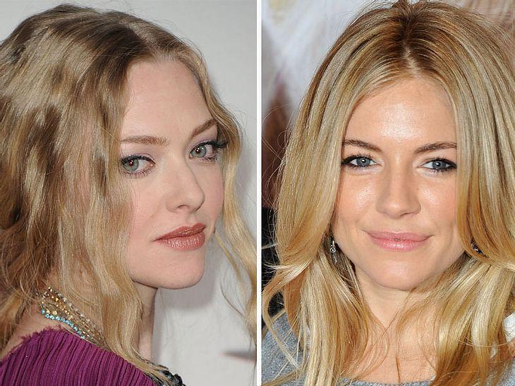,Jetzt knallt's! Die Beauty-Trends der StarsWer mit Knallfarben gar nichts anfangen kann, der tut es  Amanda Seyfried und  Sienna Miller gleich: Denn Beige- und Nudetöne gehen immer.