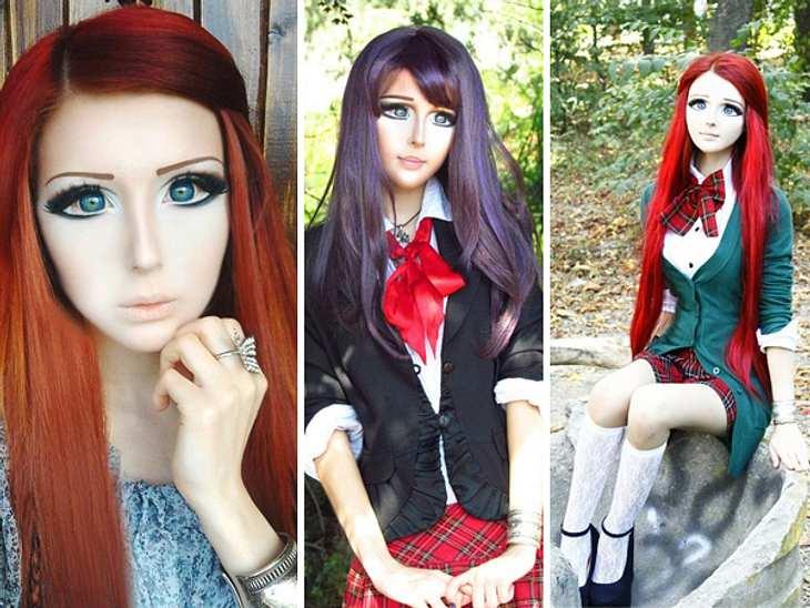 Das fleischgewordene Manga-Mädchen: Anastasiya ShpaginaDie 19-jährige Anastasiya Shpagina liebt Mangas und deshalb schminkt sie sich täglich zwei bis drei Stunden, um wie die Cartoon-Figuren auszusehen.,Hier sind noch mehr Bilder des Manga