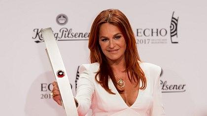 Andrea Berg geschminkt beim ECHO - Foto: Getty Images