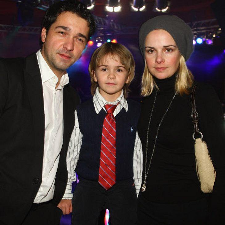 Andreas Elsholz mit seiner Frau Denise Zich und Sohn Julius.